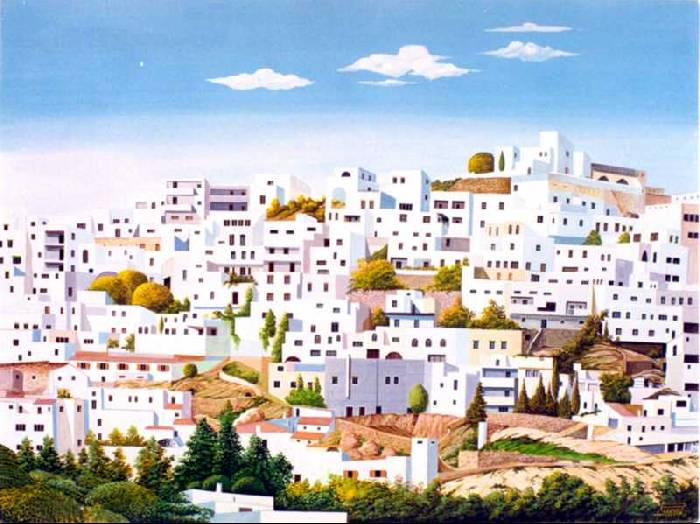 Dibujo Mojácar pueblo